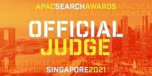 official judge APAC SEARCH AWARDS Singapore 2021 image
